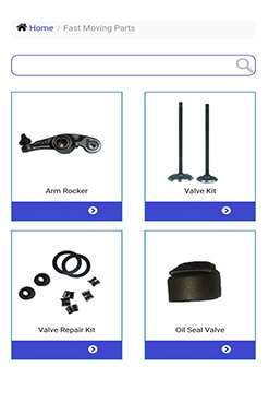 Fast Moving Parts at Bajaj Genuine Parts App