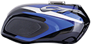CT 100 Ebony Black -Blue Decals