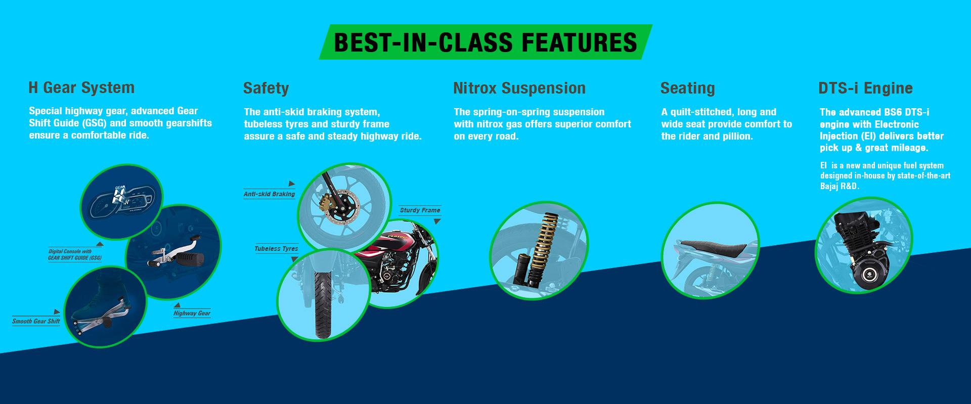 Platina 110 Features